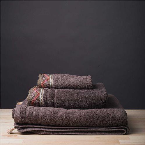 White Fabric Σετ Πετσέτες Kali Μπεζ