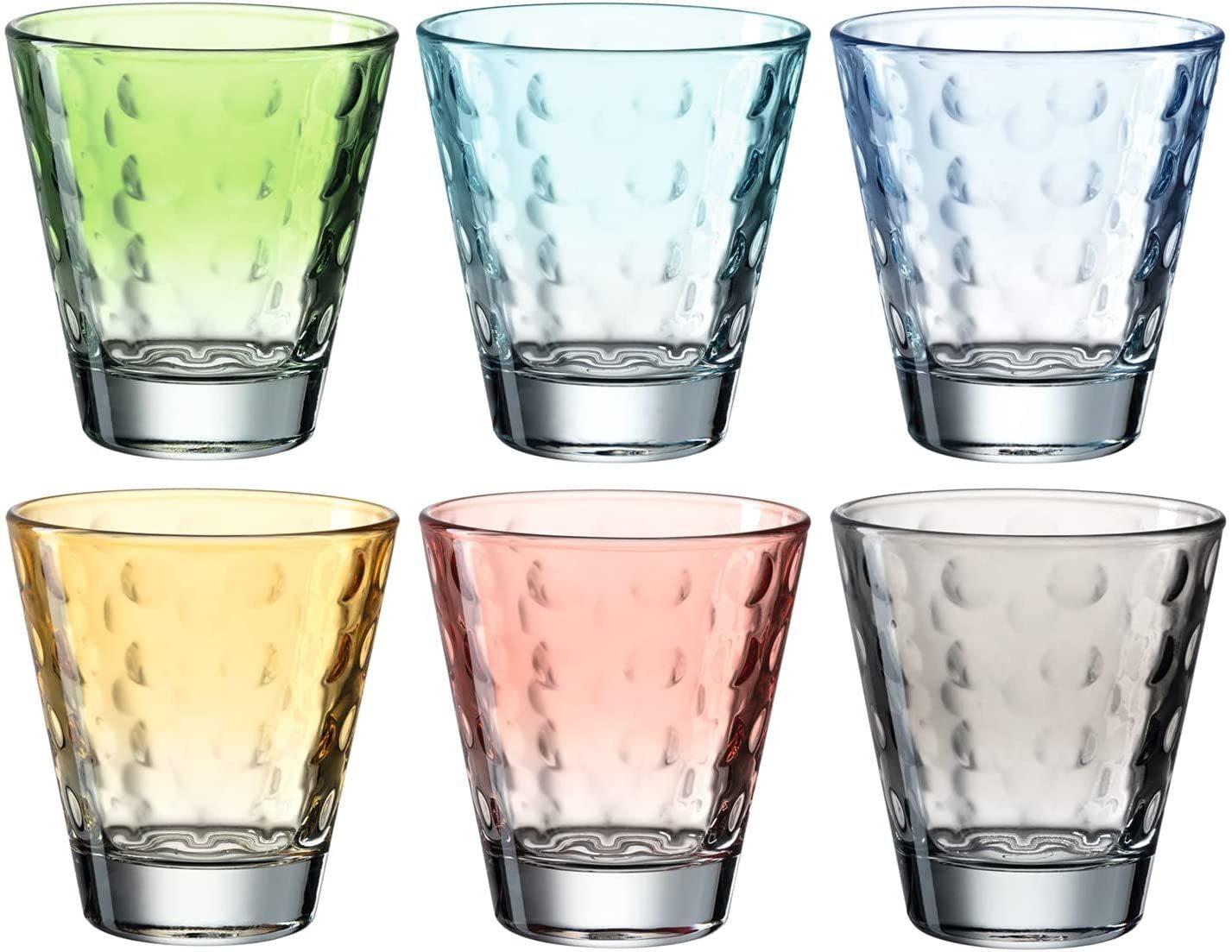 Leonardo Ποτήρια Ουίσκι Παστέλ Optic 215ml - Σετ 6 Τεμαχίων