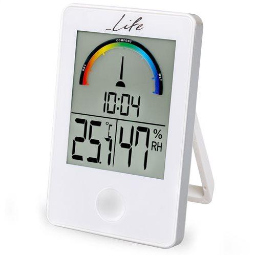Life Θερμόμετρο & Υγρόμετρο Επιτραπέζιο Εσωτερικού Χώρου WES-101