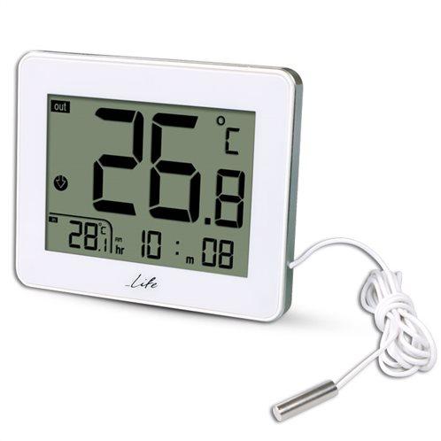 Life Θερμόμετρο & Υγρόμετρο Επιτραπέζιο Εσωτερικού/Εξωτερικού Χώρου WES-202 με Ενσύρματο Εξωτερικό Αισθητήρα