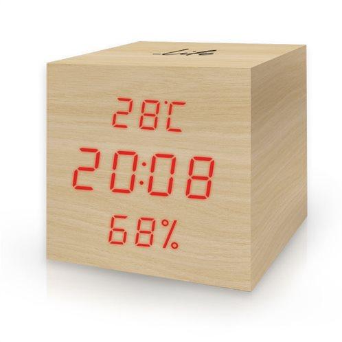 Life Ξύλινο Θερμόμετρο & Υγρόμετρο Επιτραπέζιο Εσωτερικού Χώρου WES-105