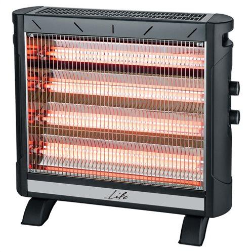 Life Σόμπα - Ηλεκτρική θερμάστρα Χαλαζία 2750W QH-101 Heat Wave