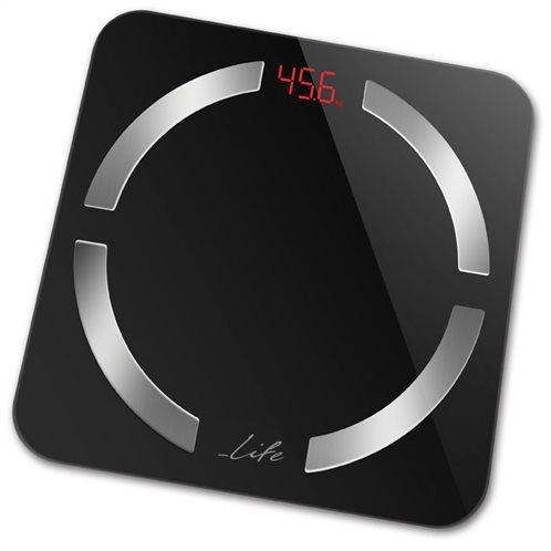 Life Ψηφιακή Ζυγαριά 12 Μετρήσεων με Λιπομετρητή & Bluetooth Smartweight BT Μαύρη 180Kg