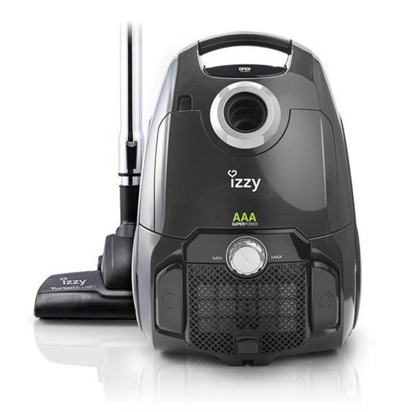 Izzy Ηλεκτρική Σκούπα 800W με Σακούλα 4lt CleanPro με Φίλτρο Σκόνης HEPA13 και Πέλμα για παρκέ
