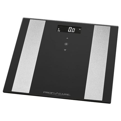 ProfiCare Ψηφιακή Ζυγαριά 8 Μετρήσεων με Λιπομετρητή PC-PW 3007 FA Μαύρη με 10 Μνήμες 180kg