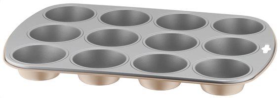 Kaiser Φόρμα για Muffin Αντικολλητική 100 Years Gold 12 Cups
