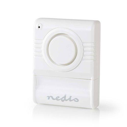 NEDIS Μini αυτόνομος αισθητήρας δόνησης με συναγερμό 85dB, ALRMGB10WT