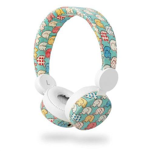 NEDIS On-ear ενσύρματα ακουστικά NEDIS N-imal Elephant Blue, HPWD4100WT