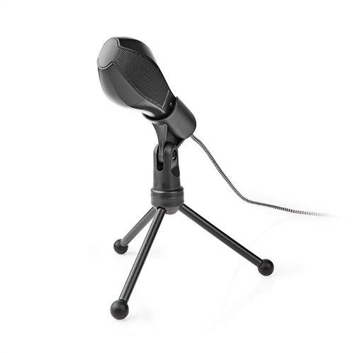 NEDIS Ενσύρματο μικρόφωνο με τρίποδα και καλώδιο USB 1.5m, MICTU100BK