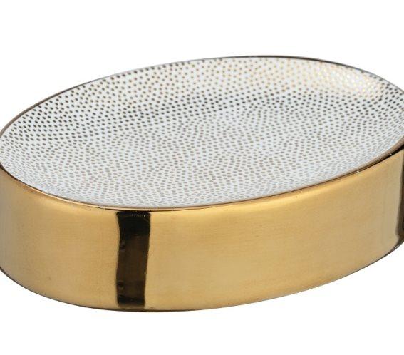 Wenko Σαπουνοθήκη Επιτραπέζια Κεραμική Χρυσή Nuria 241861121
