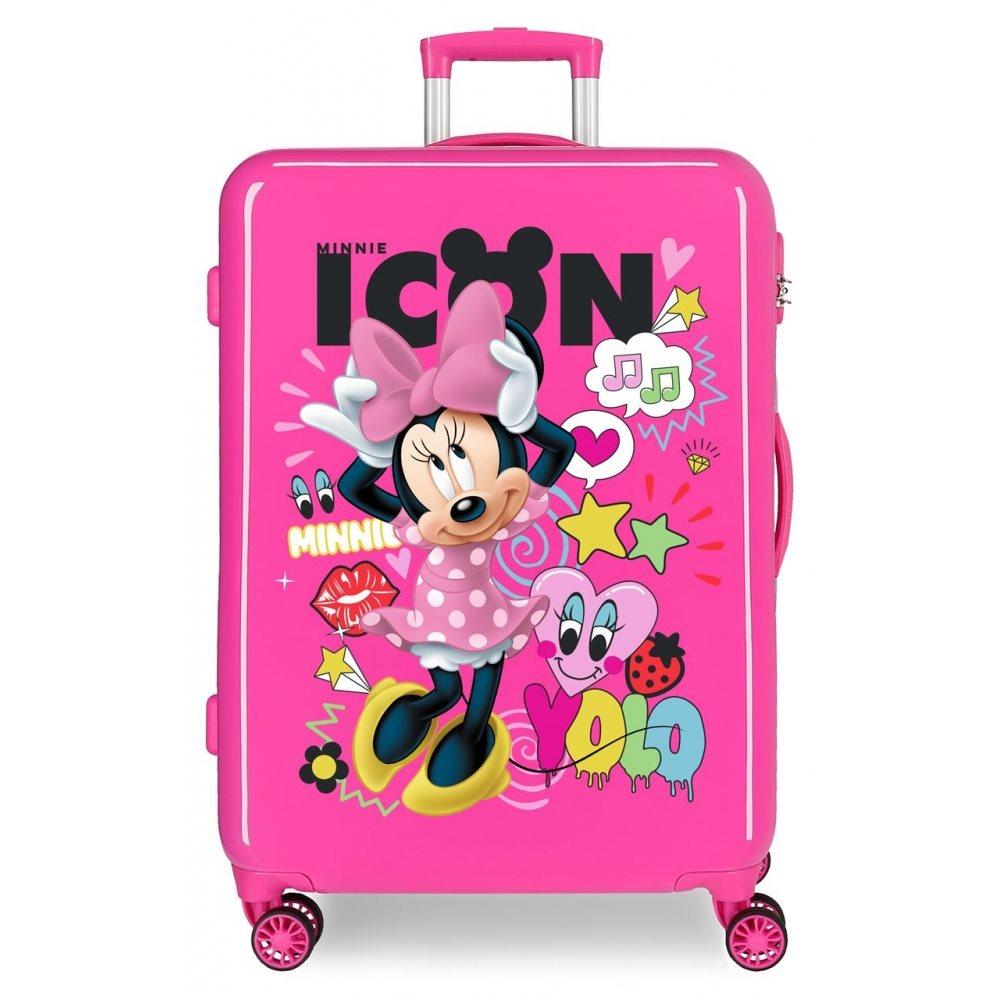 Disney Βαλίτσα 68x48x26cm ABS Minnie Icon Pink