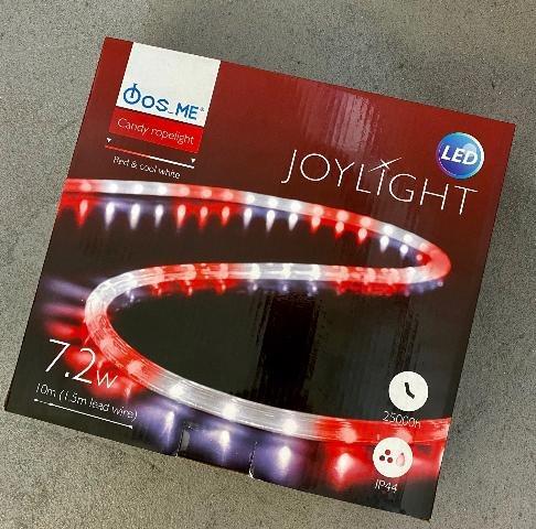 Fos Me Φωτοσωλήνας LED 10m 7.2W candy άσπρο-κόκκινο 27-00113-1