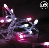 Fos Me Στεγανό σύρμα cluster 20m 200 Led σε λευκό-ροζ φως με controller 27-00311