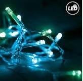 Fos Me Στεγανό σύρμα cluster 20m 200 Led σε μπλε-πράσινο φως με controller 27-00312