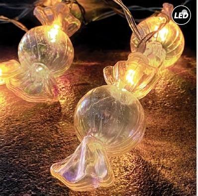 Fos Me Διακοσμητικό Φωτιστικό LED Γιρλάντα Καραμέλες 150cm Διάφανο