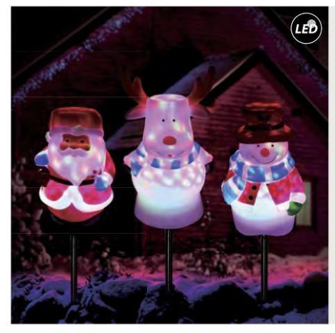 Fos Me Σετ Προτζέκτορας RGB με Φιγούρες Led με Καρφί 27-00918 ΙΡ44
