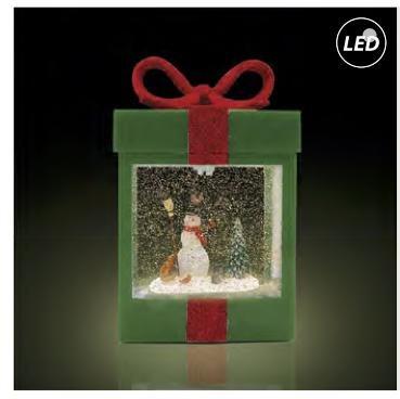 Fos Me Συσκευασία Δώρου Κουτί Πράσινο Led Αιωρούμενο Glitter 27-00920