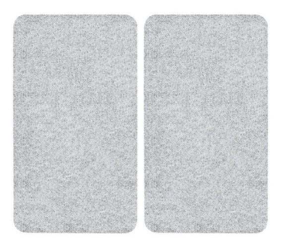 Wenko Προστατευτικά Καλύμματα Εστίας - Επιφάνεια Κοπής Γυάλινη Διάφανα 2τμχ 30x52cm 271266121