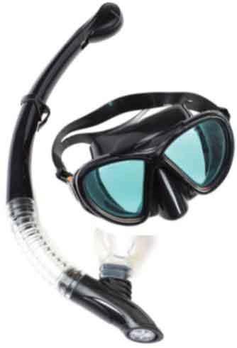 Fortis Σετ Μάσκα-Αναπνευστήρας Σιλικόνης Μαύρο