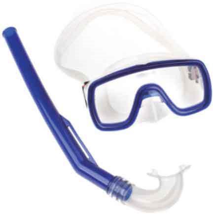 Fortis Σετ Μάσκα-Αναπνευστήρας PVC Παιδικό Μπλε