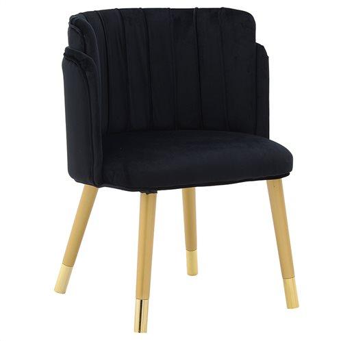 Inart Βελούδινη Καρέκλα 3-50-588-0039