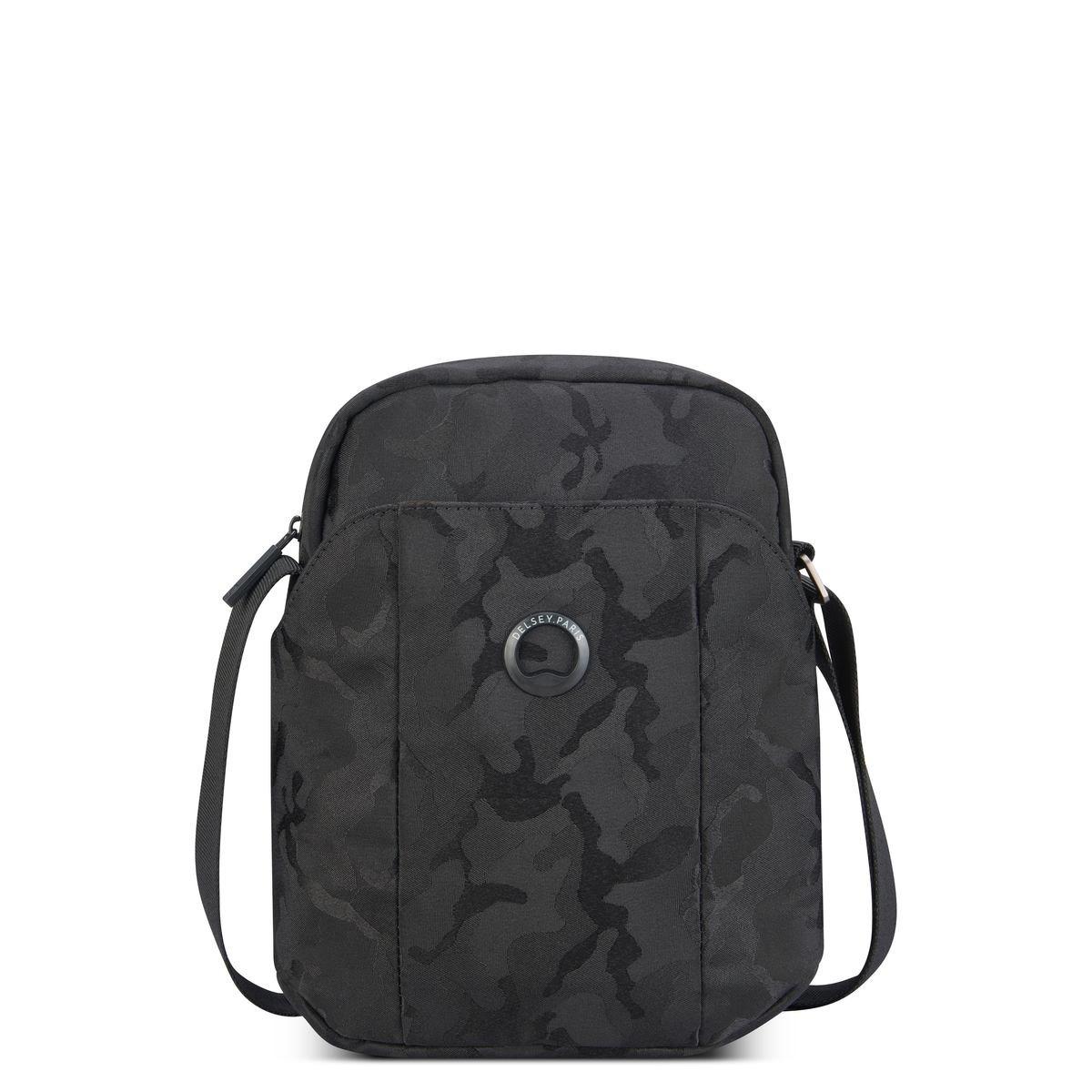 Delsey Ανδρικό τσαντάκι ώμου κάθετο 24x19x6cm tablet 7.9'' σειρά Picpus Black Camouflage