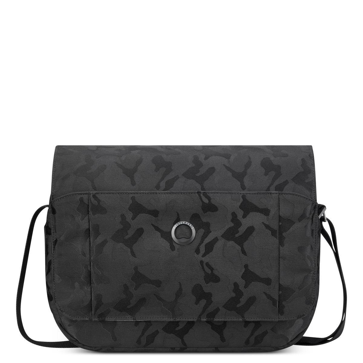 Delsey Χαρτοφύλακας 26x34,5x9cm με θέση για tablet 12,9'' σειρά Picpus Black Camouflage