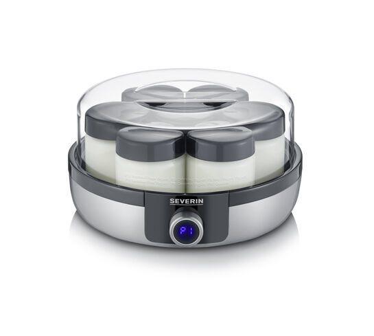 Severin Ψηφιακή Γιαουρτομηχανή Ανοξείδωτo Ματ 13W με 7 Γυάλινα Βαζάκια των 150ml