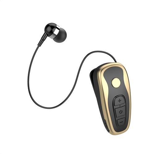 Crystal Audio Retractable Bluetooth Aκουστικό R1-KG Μαύρο Χρυσό