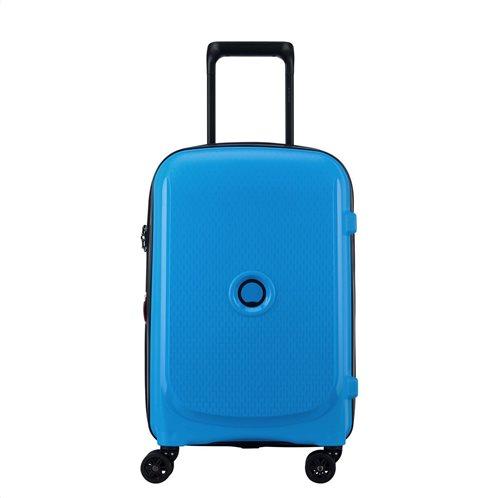 Delsey Βαλίτσα καμπίνας slim 55x40x20cm Belmont Expandable Metallic Blue