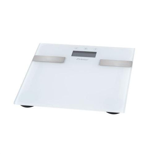 Primo Ψηφιακή Ζυγαριά 7 Μετρήσεων με Λιπομετρητή Λευκή PRBS-40331 10 Μνήμες 180kg