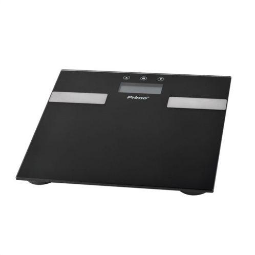 Primo Ψηφιακή Ζυγαριά 7 Μετρήσεων με Λιπομετρητή Μαύρη PRBS-40332 10 Μνήμες 180kg