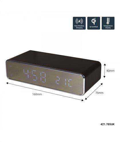 AvLink Recharge Black: Ψηφιακό ρολόι ασύρματης φόρτισης (Fast Charge)