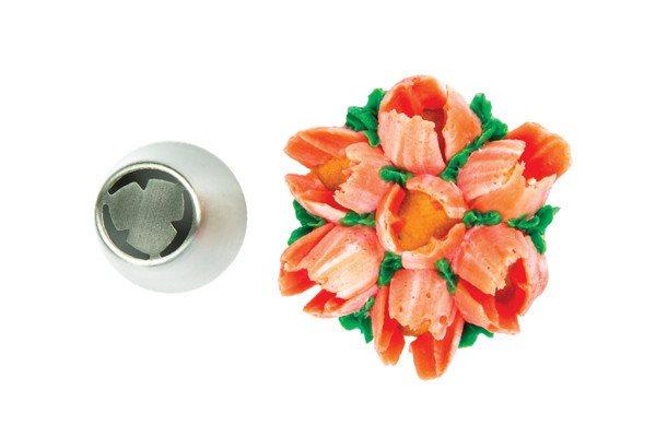 Silikomart Μύτη για Κορνέ Ανοξείδωτη Tube 21 Flower O25mm
