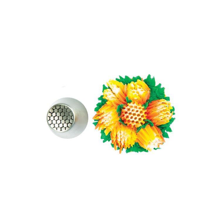 Silikomart Μύτη για Κορνέ Ανοξείδωτη Tube 27 Flower O25mm
