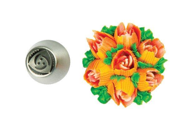 Silikomart Μύτη για Κορνέ Ανοξείδωτη Tube 33 Flower O25mm