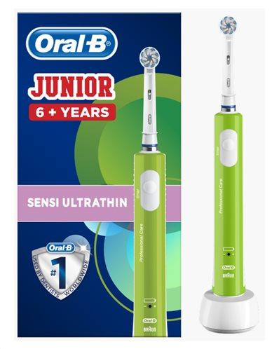 Oral-B Ηλεκτρική Οδοντόβουρτσα Junior 6+ Ετών Πράσινη