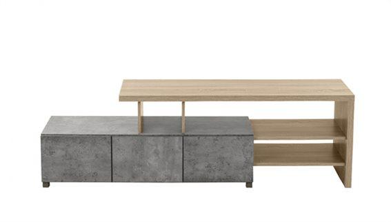 Tv Stand Neutral Cement Σκούρο Sonoma