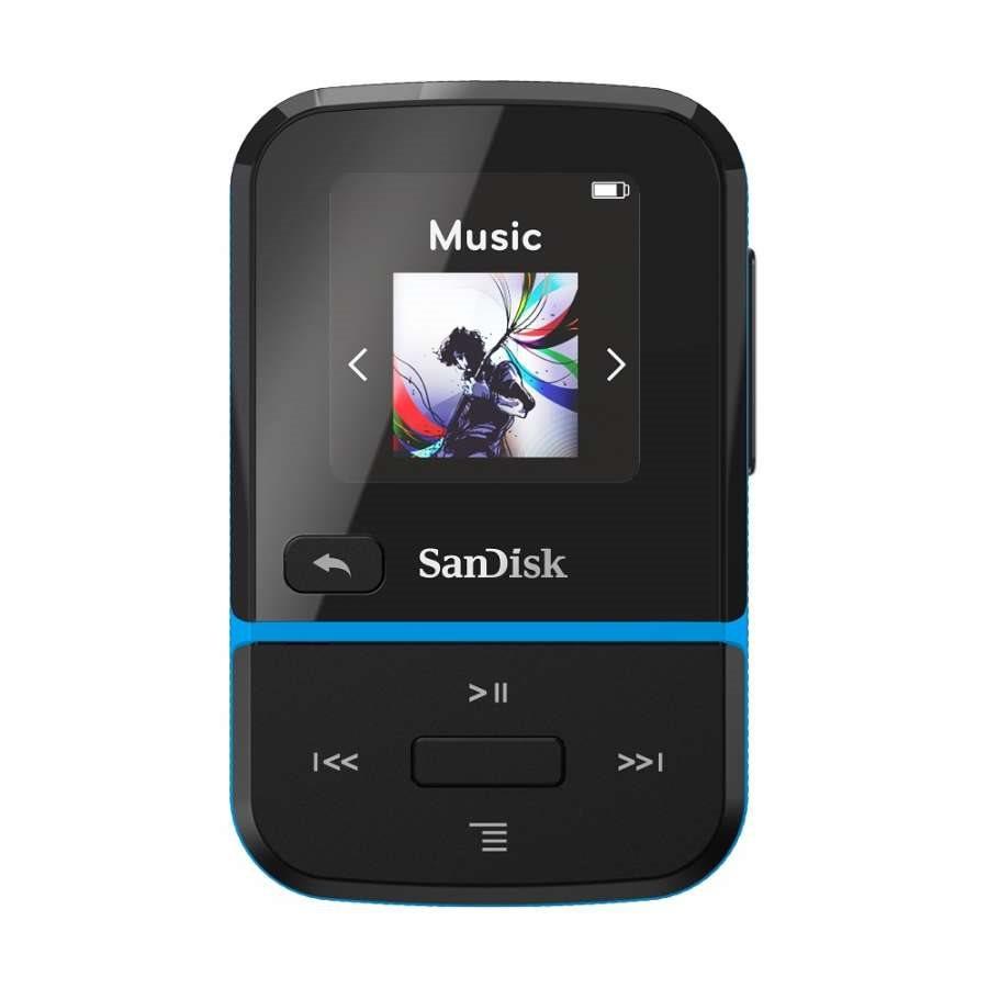 SanDisk Mp3 Player SDMX30-016G-E46B Clip Sport Go Blue 16GB