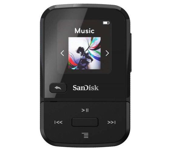 SanDisk Mp3 Player SDMX30-032G-E46K Clip Sport Go Black 32GB