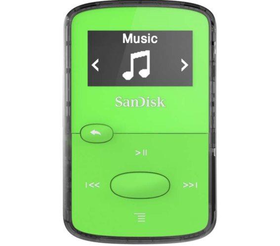 SanDisk Mp3 Player  SDMX26-008G-E46G ,Clip JAM Green