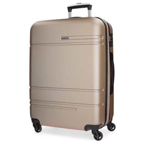 Movom βαλίτσα μεσαία αυξομειούμενη ABS 68x27x48cm σειρά Galaxy Champagne