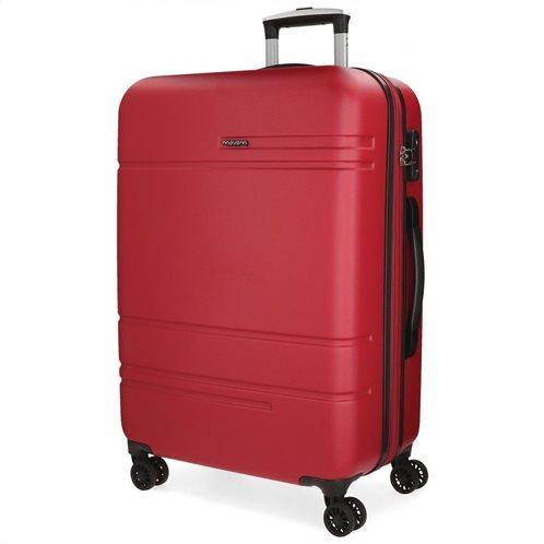 Movom Βαλίτσα μεσαία αυξομειούμενη ABS 68x27x48cm σειρά Galaxy Red