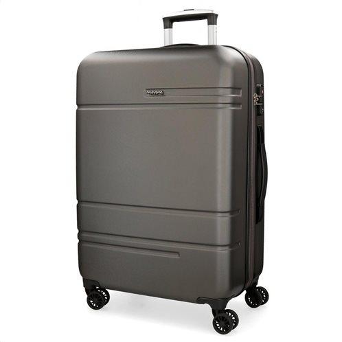 Movom βαλίτσα μεγάλη αυξομειούμενη ABS 78x31x53cm σειρά Galaxy Anthracite