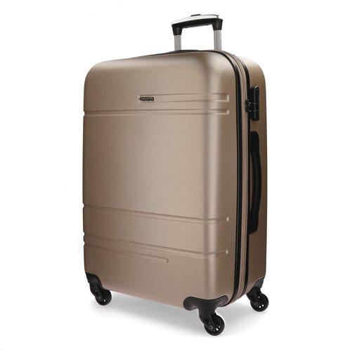 Movom βαλίτσα μεγάλη αυξομειούμενη ABS 78x31x53cm σειρά Galaxy Champagne