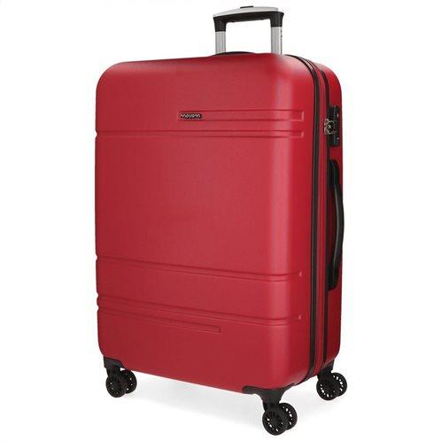 Movom Βαλίτσα μεγάλη αυξομειούμενη ABS 78x31x53cm σειρά Galaxy Red