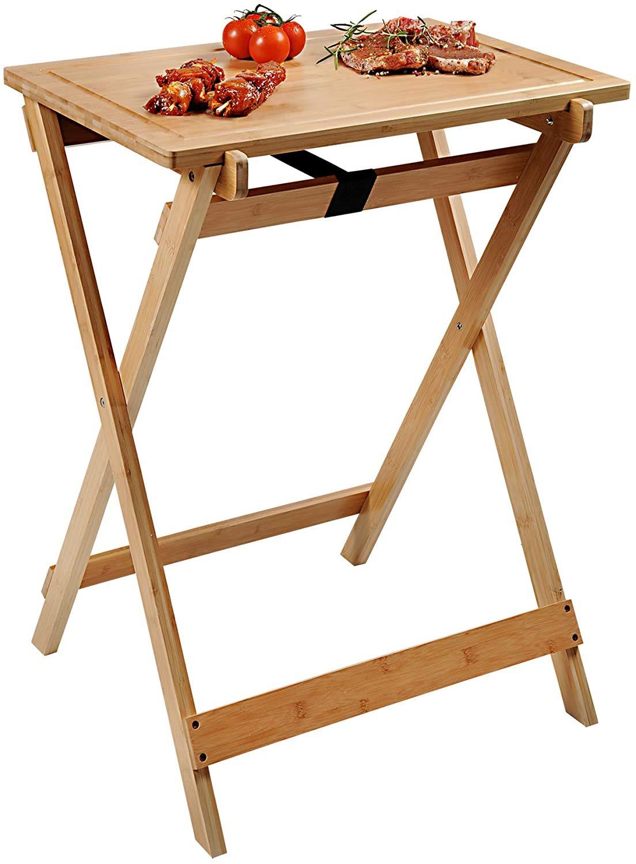 Τραπέζι Αναδιπλούμενο - Βάση Κοπής Μπαμπού 51x70x84cm