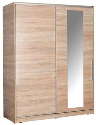 Velco ντουλάπα με 2 συρόμενες πόρτες καθρέπτη