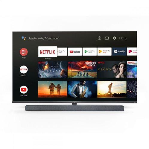 TCL Τηλεόραση 65'' 4K Android TV Με Onkyo Soundbar 65X10