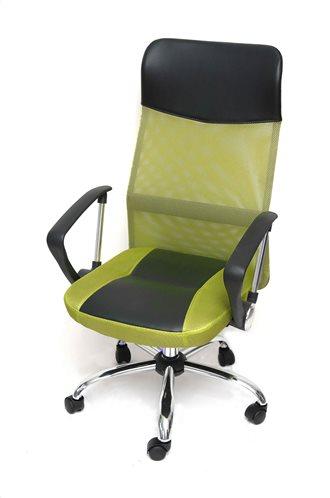 Velco Καρέκλα Γραφείου Διευθυντού Λαχανι Μαύρο